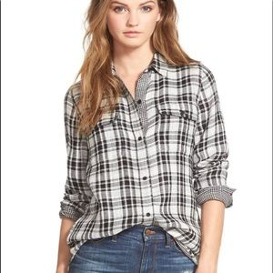 Madewell Boyfriend Plaid Button Up Size Medium